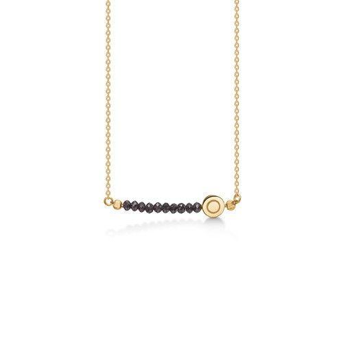 NOBLE TEARS halskæde i 14 karat guld med sorte rådiamanter.   Smuk og elegant halskæde med smukke, sorte rådiamanter. Den tynde kæde og de smukt changerende diamanter skaber et eksklusivt og luksuriøst udtryk.   NOBLE TEARS halskæden er fra Mads Zieglers Gold Label kollektion.