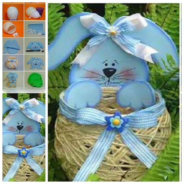 Easter Basket out of Yarn String F 1 Wonderful DIY Yarn String Easter Basket