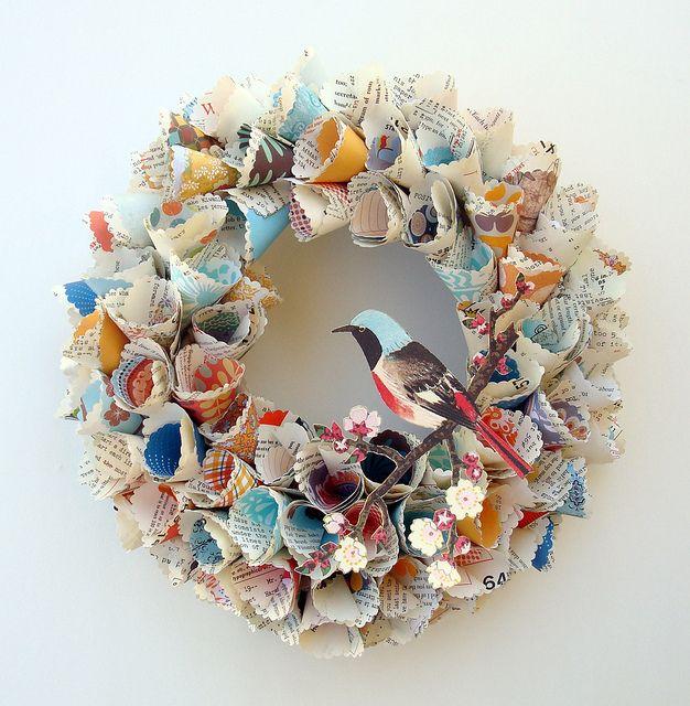 DIY paper wreath