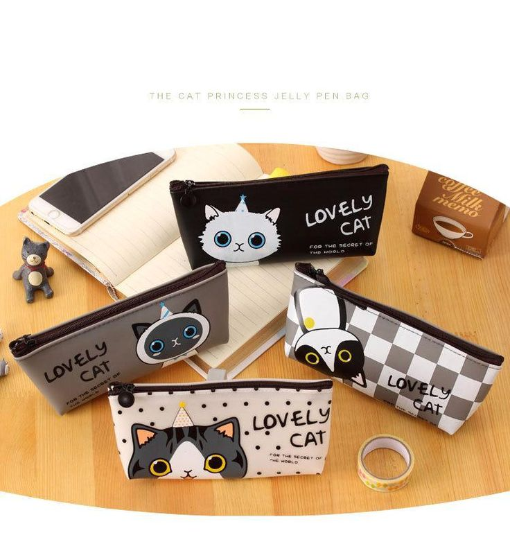 Lovely Meow Cat High School Japanese Pencil Case for Girls  #Lovely #Meow #Cat #HighSchool #Japanese #PencilCase #Girls