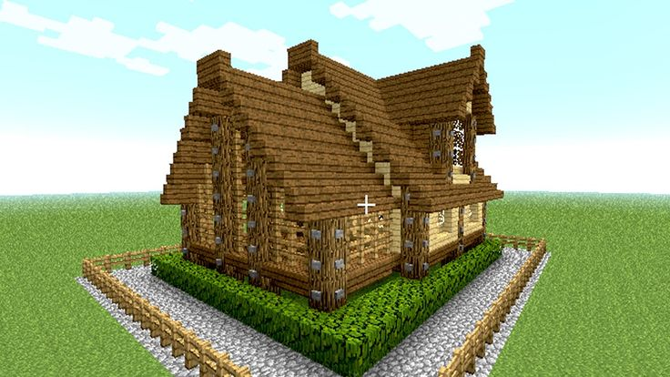 MINECRAFT house tutorial ( cool and easy wooden house in 15 minutes )