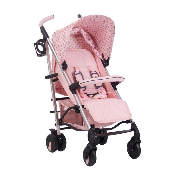 My Babiie Katie Piper Believe MB51 Stroller Pink Hearts Kiddicare.com