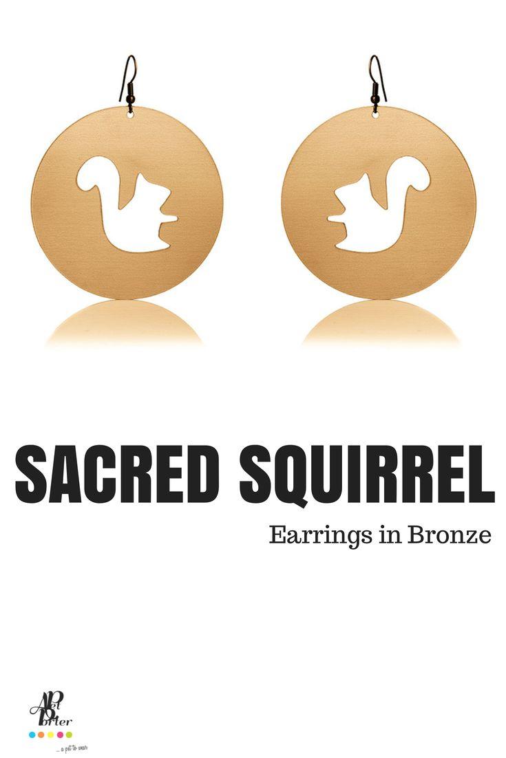 Ultra light plastic earrings in bronze color.