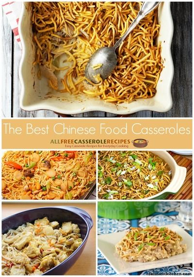 Chinese food? In casserole form? These easy casserole recipes look great. I can't wait to try making Chinese food casseroles for my family.