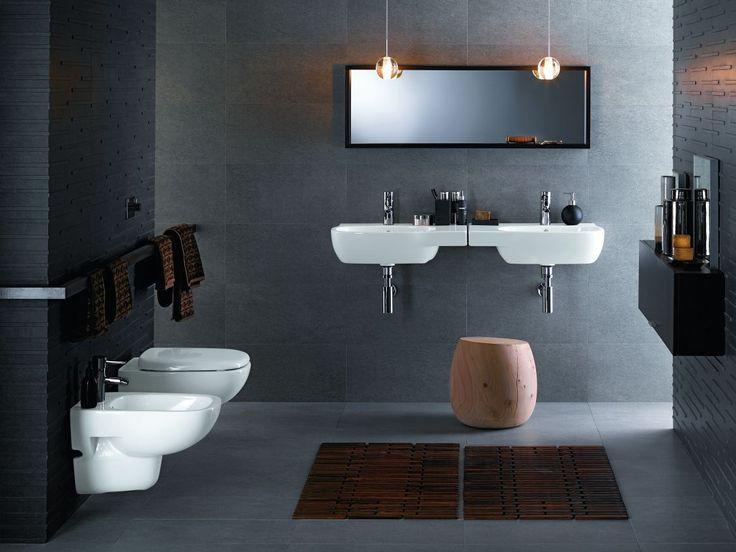ЧЁРНЫЕ И СЕРЫЕ ЦВЕТА - Идеи - ванной комнаты Kolo