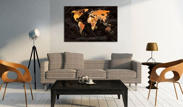 Obraz na korku - Endless Travel #mapart #domov #decor #korek #design #travel #pin #wall #cork #world #black