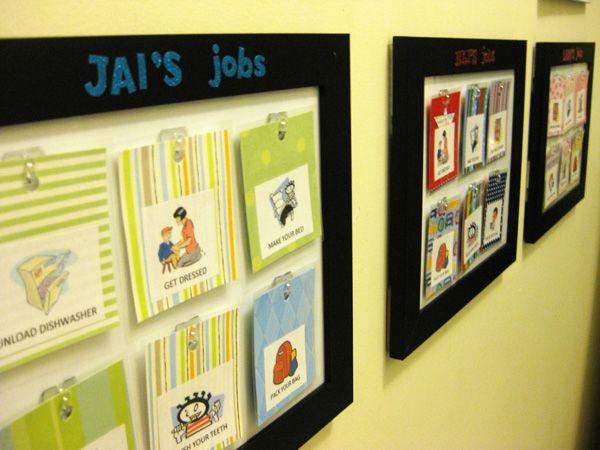 creative chore charts   Get Creative} Kids' Job Charts