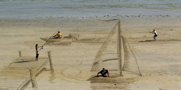 Σκέψεις: 3D artists give beach a new dimension  By Jamie Mo...