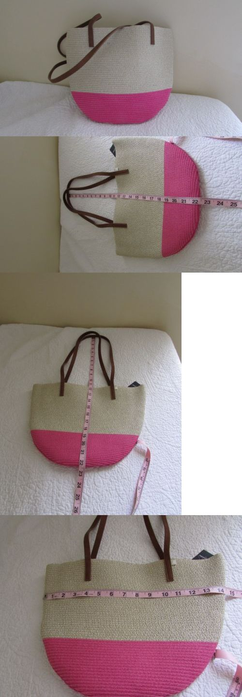 Purses and Wallets 15629: Abercrombie And Fitch Girls Tween Straw Tote Purse Bag Metallic Threading Pink Nwt -> BUY IT NOW ONLY: $45.95 on eBay!