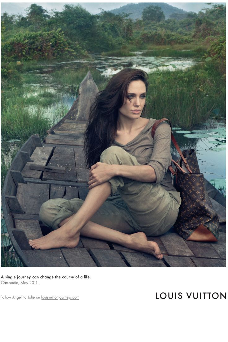 Angelina Jolie models for Louis Vuitton