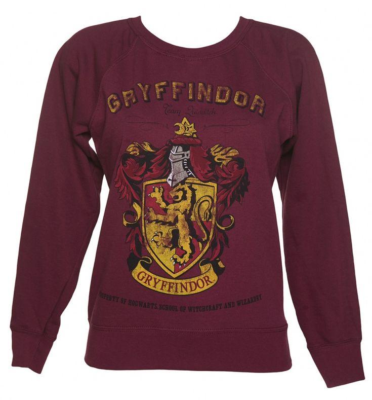 Ladies Harry Potter Gryffindor Team Quidditch Sweater