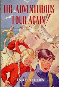 The Adventurous Four Again by Enid Blyton - Cover art by Jessie Land