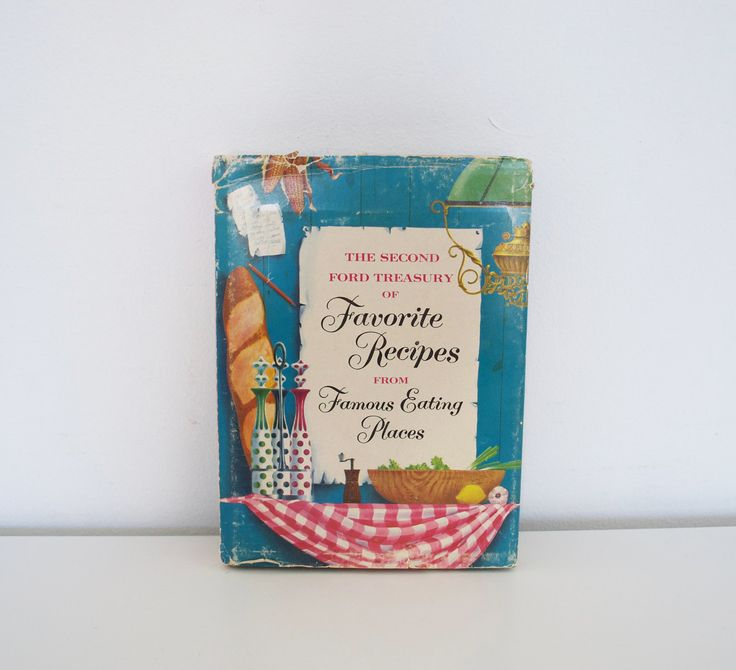 Midcentury cookbook - Second Ford Treasury of Favorite Recipes (1954) by EvelynandGeorgeBooks on Etsy, $14