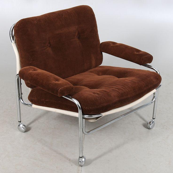 FÅTÖLJ, på hjul, 1960/70-tal.