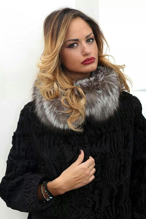 #Fashion is a #weapon #that #you can use #when you #need it.  #Swakara #fur with #fox, #whole #skins. #Fantastic #price! #BUY #HERE  http://www.jewelsandfurs.com/web/en/shop/furs/ef001136/