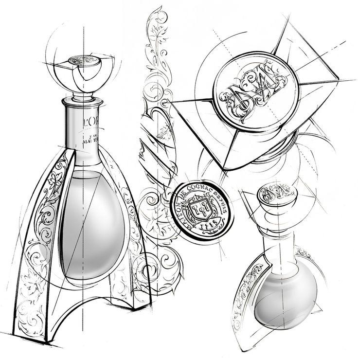 illustration flacon cognac Martell Florence Gendre