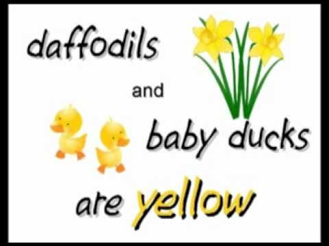 ▶ Color Y-E-L-L-O-W yellow song - Kindergarten - YouTube For more pins like this visit: http://pinterest.com/kindkids/music-and-videos-charlottes-clips/