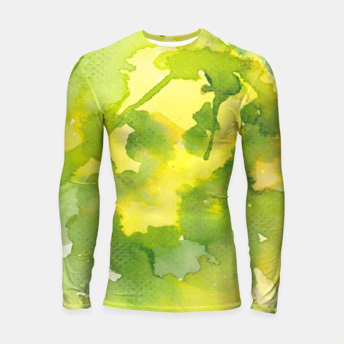 Lime Splash Longsleeve Rashguard