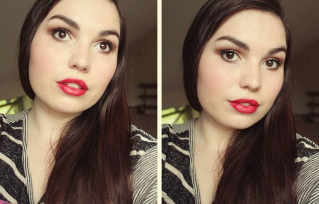 Face Of The Day | Light Bronze Smokey Eye + Red Lips