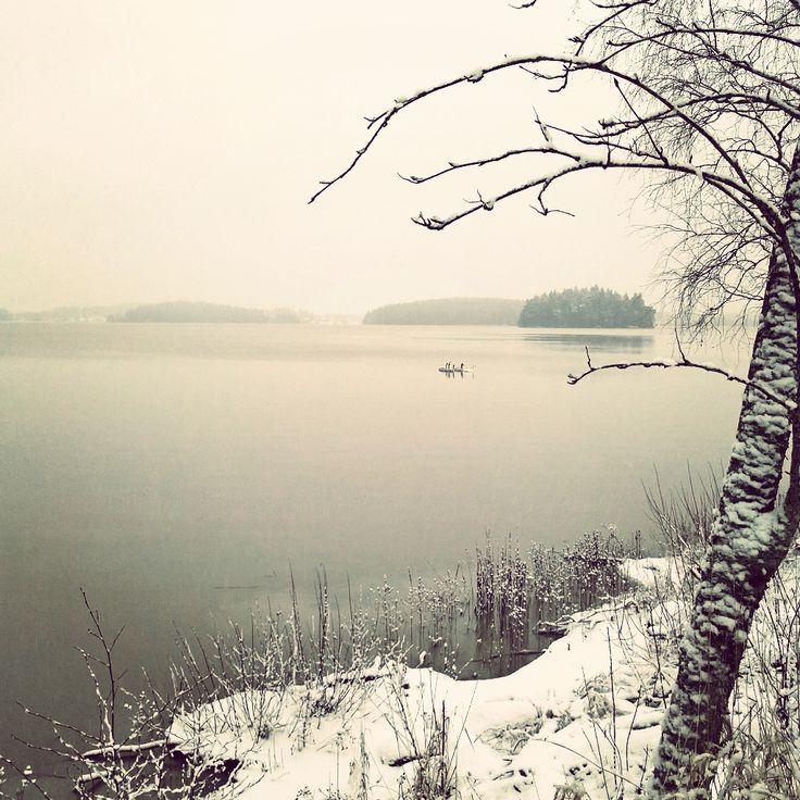 Akaan maaseutua joulukuussa 2016 Finland country in December 2016