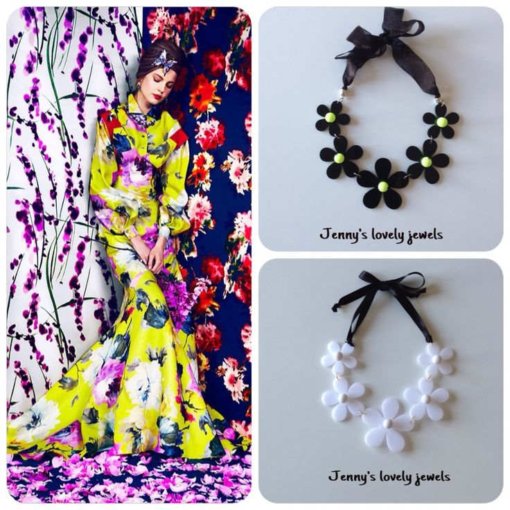 Street style floral , flower necklaces