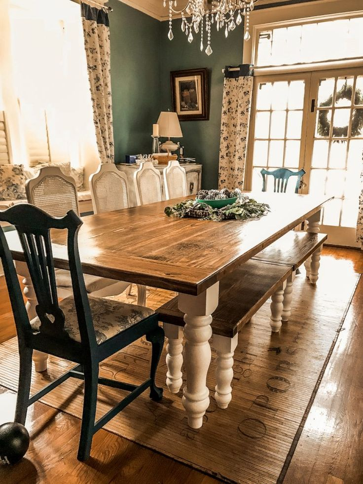 A farmhouse table large enough for the whole family