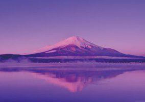 画像:1月 山中湖と逆さ富士(山梨) 四季水景 2017年版カレンダー