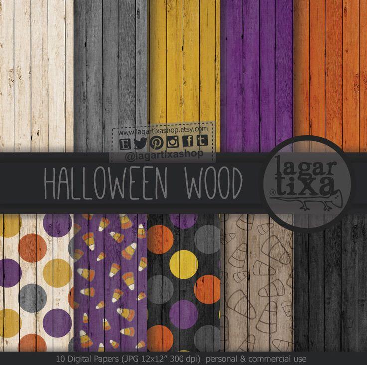 https://www.etsy.com/mx/listing/250943201/halloween-noche-de-brujas-fondos-madera #halloween #background #woodtexture #halloween2016 #patterns #HalloweenFestival #favors