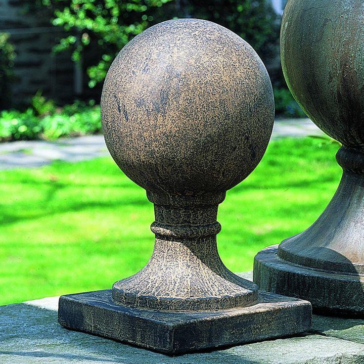 Campania International Small Sphere Cast Stone Square Base - S-203-AL