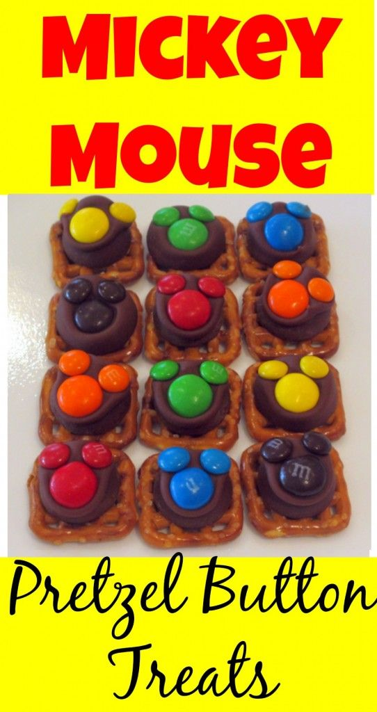 Mickey Mouse Pretzel Buttons