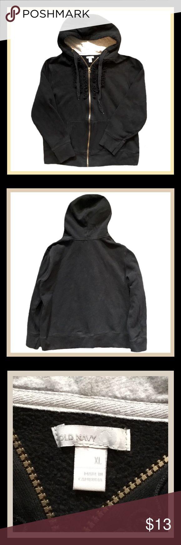 ‼️20% OFF ALL BUNDLES‼️OLD NAVY  Zip Up Hoodie 🔲Gently used OLD NAVY woman's long sleeve zip up hoodie.                                           🔲Size XL.                                                                                                                      🔲Bundle and Save Old Navy Tops Sweatshirts & Hoodies