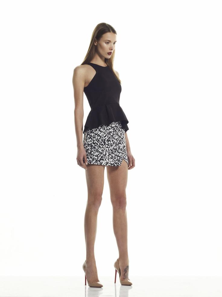Estella Peplum Top and Freya Wrap Skirt