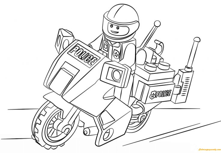 Lego Police Coloring Pages Lego coloring pages, Lego