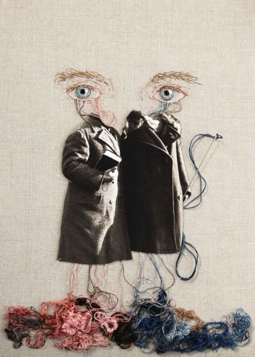 Ulla Jokisalo   embroider and construction of those coats   LOVE it! Give me a tickle in that breathless place.