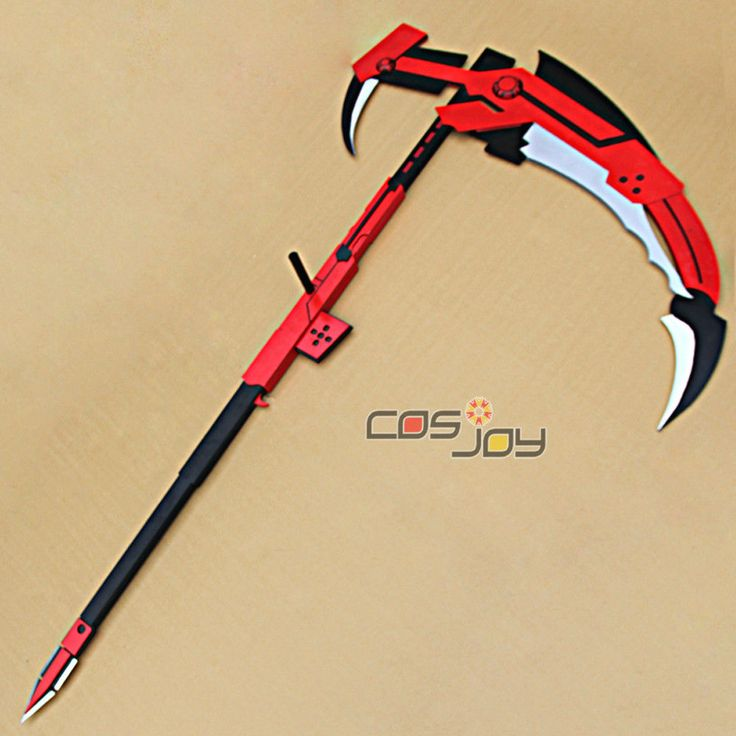 Rwby Ruby Crescent Rose The High Velocity Sniper Scythe Replica PVC Cosplay Prop | eBay