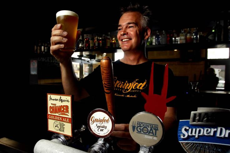 SERIOUS BUSINESS: Brewer Lachlan MacBean has started his own craft beer label and released a pale ale called Sneaky One. Picture: Jonathan Carroll