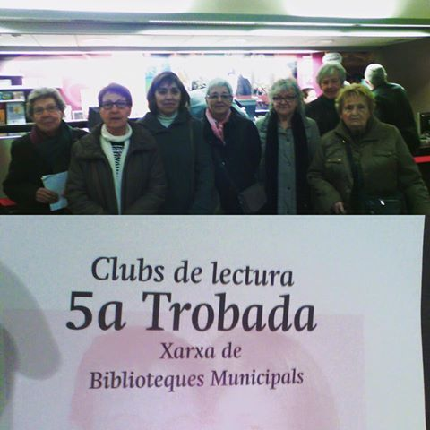 """Avui amb més de 30 clubs de lectura ens hem trobat al teatre kursaal de Manresa per veure l'obra de teatre """"El test"""". El club de lectura d'adults hi hem sigut #Esparreguera #quèfemalesbiblios #clubdelectura"""