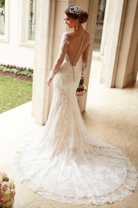 49a8fd5a97d A205 Sexy See Through Top Lace Wedding Dress