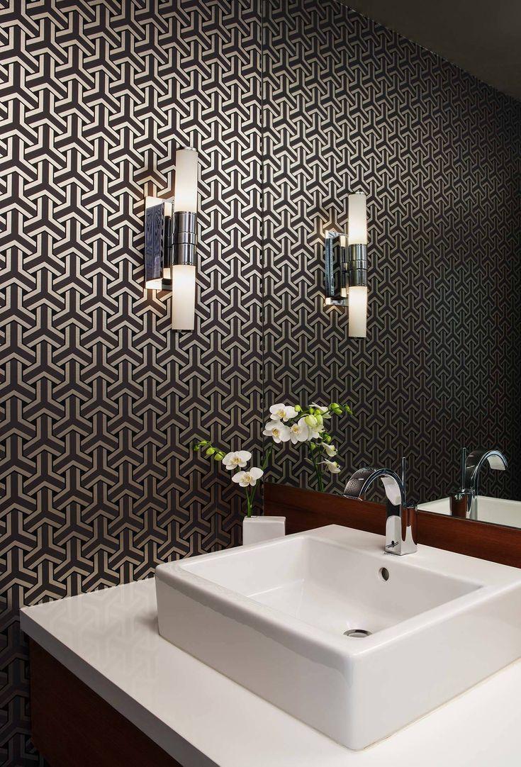 Adorable Powder Room Ideas Modern Small And Decorating Ideas Modern Wallpaper Black Wallpaper Bedroom Small Bathroom Decor