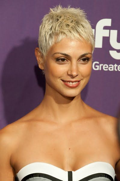 Morena Baccarin. She also features quite heavily when you google 'short hair'.