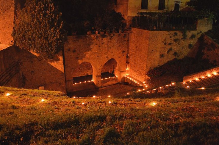 Red Night: a homage to Volterra, Tuscany