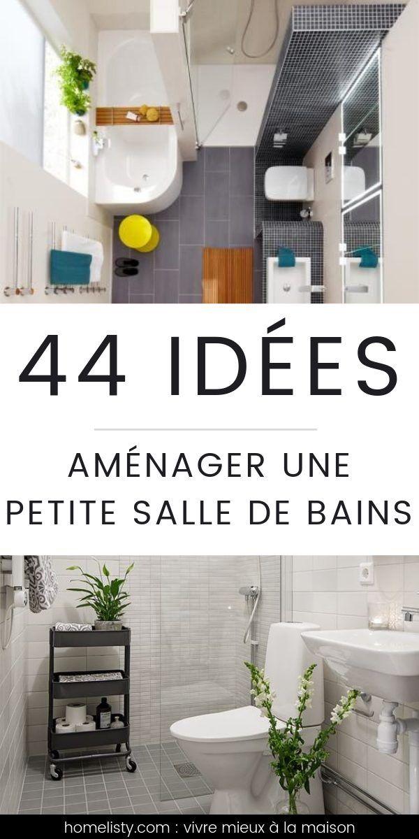 Petite Salle De Bains 33 Idees Pour La Decorer Et L Amenager Amenager Petite Salle De Bain Petite Salle De Bain Rangement Petite Salle De Bain