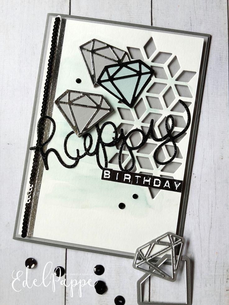 Geburtstagskarte mit Diamanten Stampin' Up! Produkte aus dem aktuellen Jahreskatalog 2017/2018