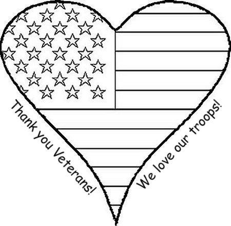 Crafty Confessions: Veterans Day Coloring Page