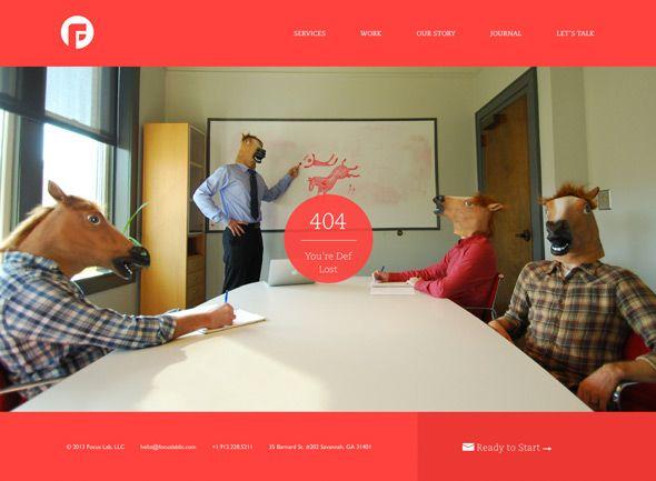 30 Fresh & Creative 404 Error Page Designs