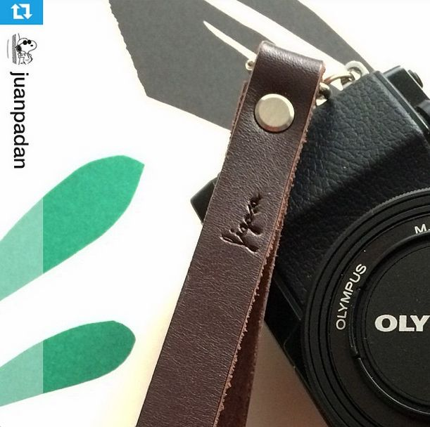 Brown #Figosa wrist strap: keep your camera on hand!