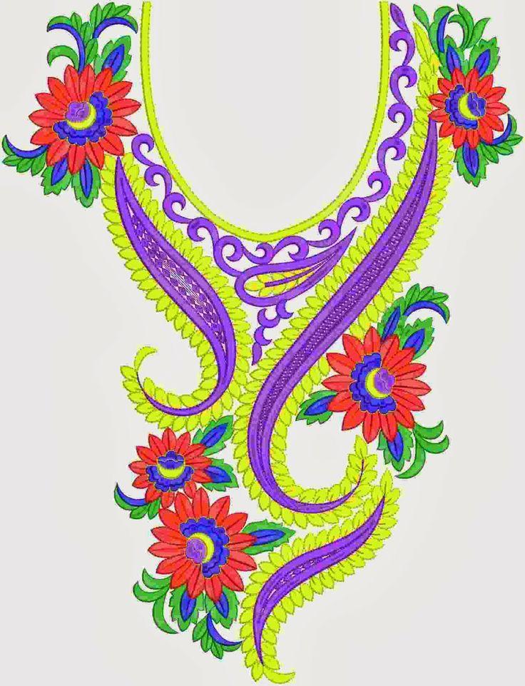 Traditional styl van blomme ontwerp nek...