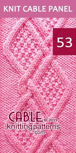 Knit Cable Cable Pattern 53, é GRÁTIS