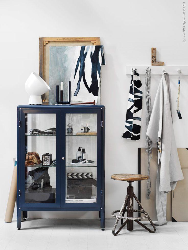 Neue Vitrine aus der 2017 Kollektion von Ikea - perfekt für den Industrial Look!