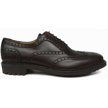 Zapato oxford pala vega en piel marrón de John Spencer vista lateral